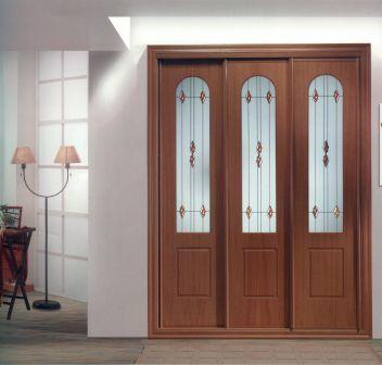Armario tres puertas correderas armarios ebanisteria - Puertas de madera decoradas ...